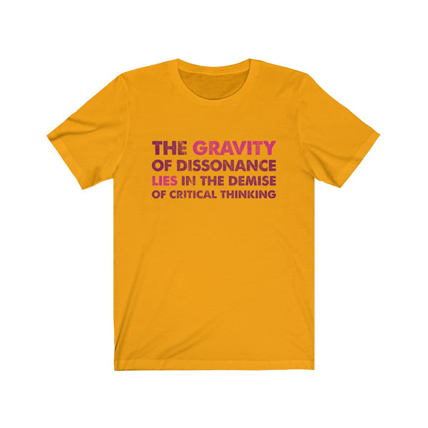 The Gravity . Maroon-Magenta . Unisex Cotton Tee