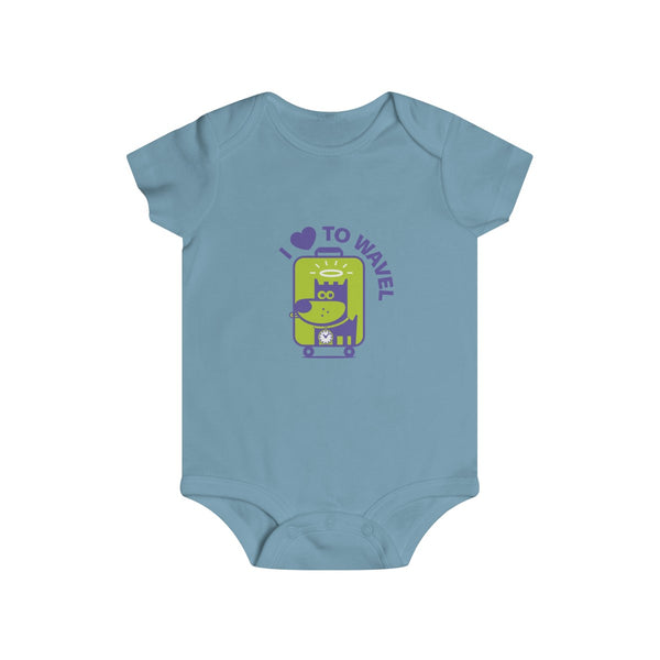 I Love To Wavel II . Infant Rip Snap Tee