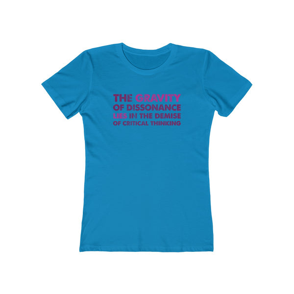 The Gravity . Magenta-Maroon . Women's Boyfriend Tee