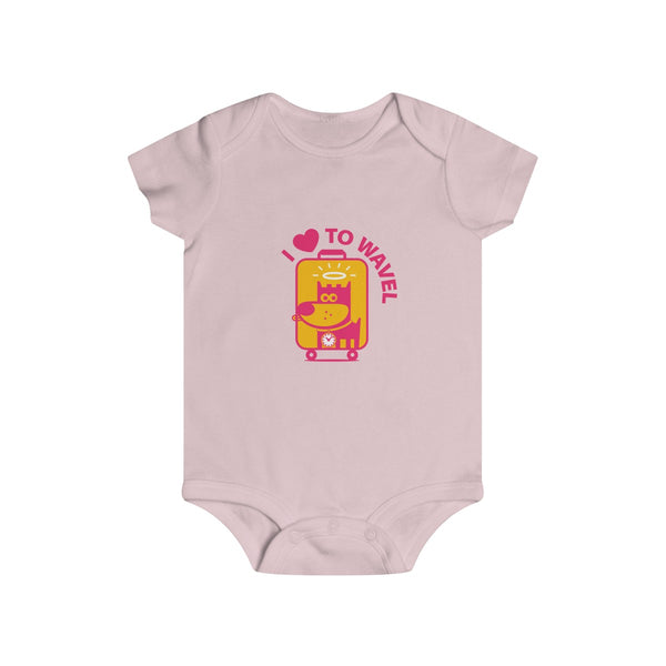 I Love To Wavel III . Infant Rip Snap Tee