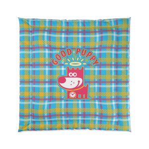 Good Puppy Plaid III Orange . Comforter