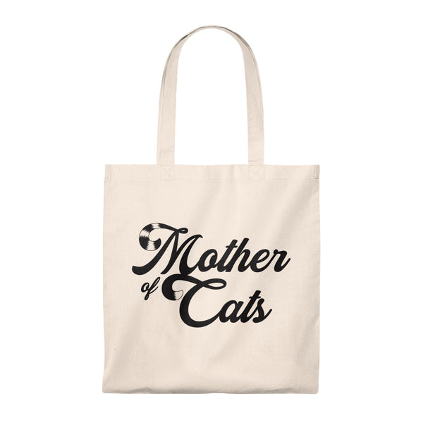 Mother Of Cats . Black . Tote Bag
