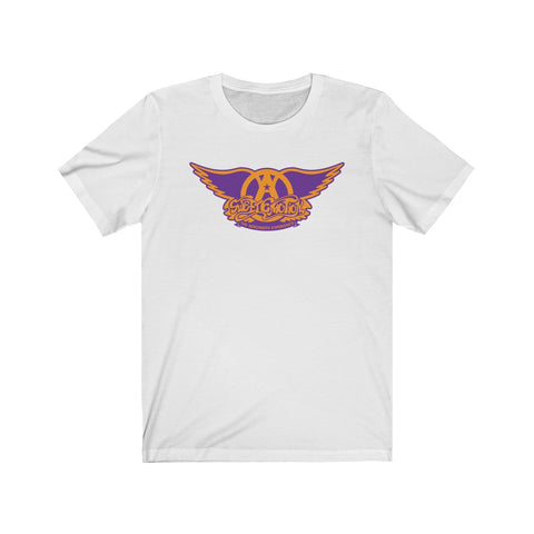 Sweet Emotion . Orange On Purple Logo . Unisex Cotton Tee