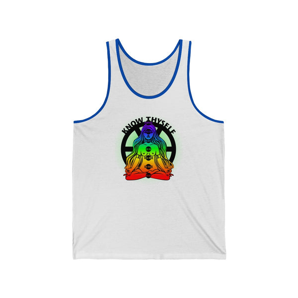 SACRED CLOWNS . Know Thyself . Unisex Jersey Tank