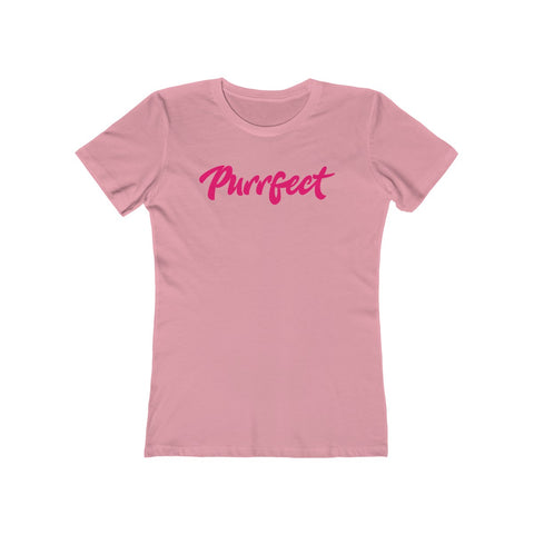 Purrfect . Pink . Women's The Boyfriend Tee