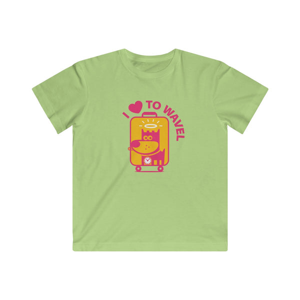 I Love To Wavel III . Kids Fine Jersey Tee