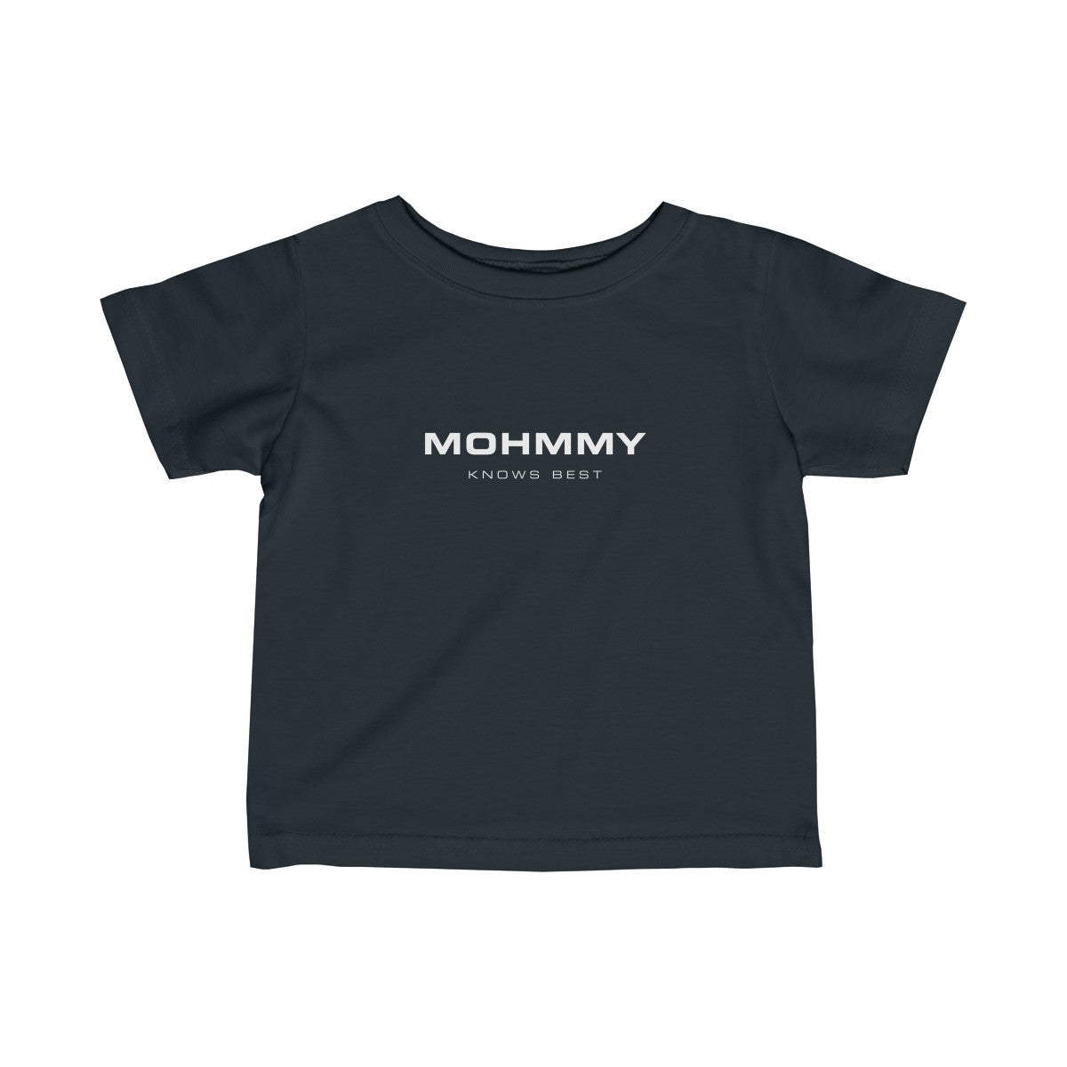 MOHMMY .  White Logo . Infant Fine Jersey Tee