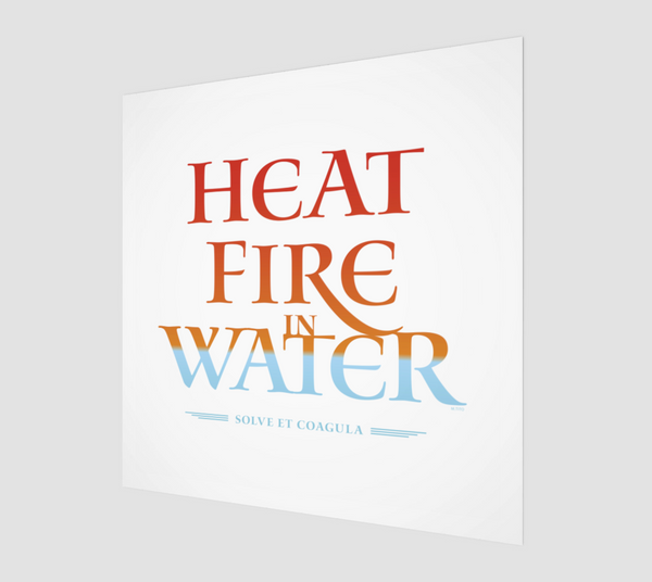 Heat Fire In Water . Fine Art Print