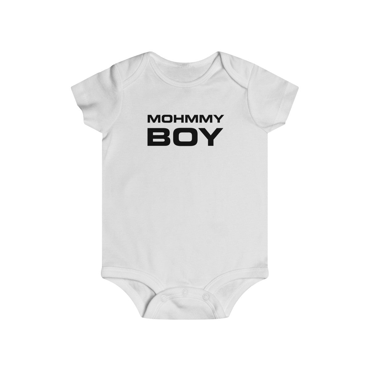 Mohmmy Boy . Black Print . Infant Rip Snap Tee