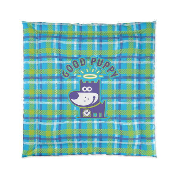 Good Puppy Plaid II Green . Comforter