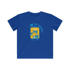 I Love To Wavel II . Kids Fine Jersey Tee