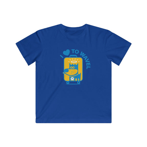 I Love To Wavel I . Kids Fine Jersey Tee