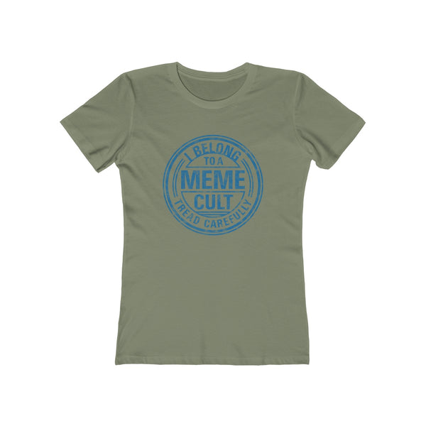 SACRED CLOWNS . Meme Cult . Blue Print . Women's The Boyfriend Tee