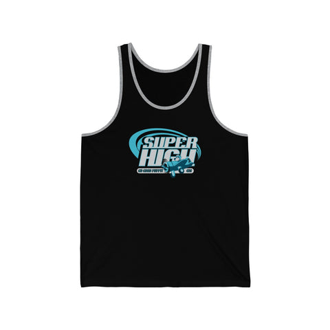 Super High . Blue Print . Unisex Jersey Tank