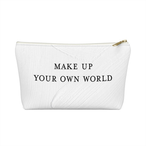 TJH . Make Up Your Own World . Accessory Pouch With T Bottom