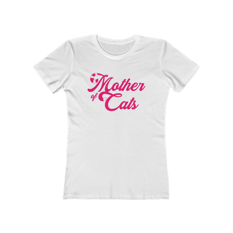 Mother Of Cats . Pink . Women's The Boyfriend Tee