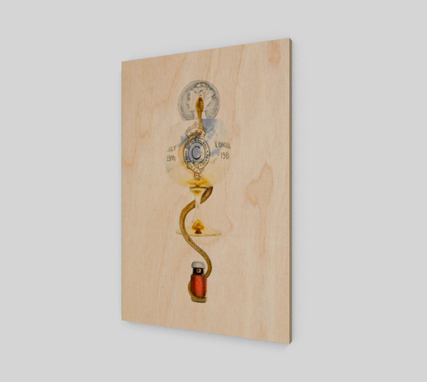 Rising of the Kundalini Fine Art Wood Print