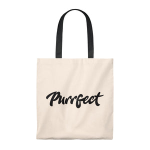 Purrfect . Black . Tote Bag
