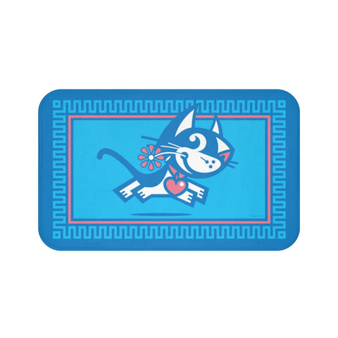 Betty Bad Kitty I . Large Bath Mat