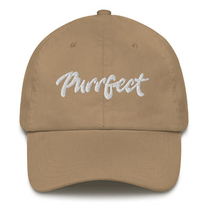 Purrfect . White . Dad Hat