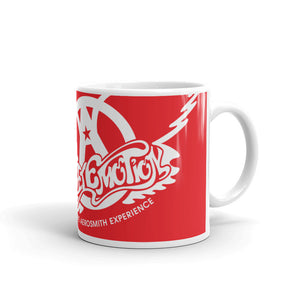 Sweet Emotion . White Red Logo . Mug