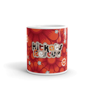 KitKats Rescue . Red Flower Bed . Mug