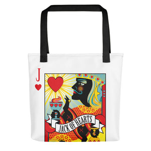 Jack Of Hearts . Weather-Resistant Tote Bag