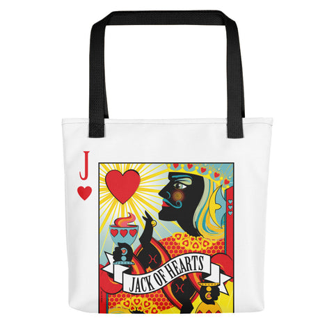 Stack The Deck . Jack Of Hearts . Weather-Resistant Tote Bag