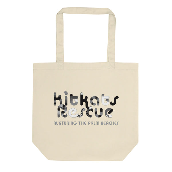 KitKats Rescue . Grayscale Logo . Eco Tote Bag