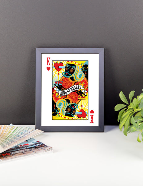GEORGE'S DRAGON . Stack The Deck . King Of Hearts . Framed Matte Print