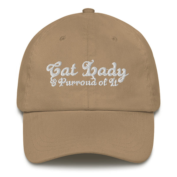 Cat Lady . White . Dad Hat