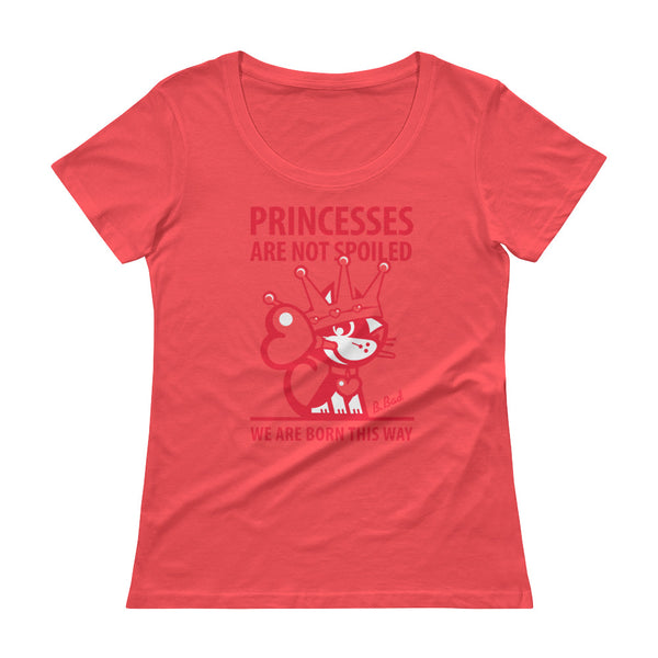 BETTY BAD KITTY . Princess . Red Print . Women's T-Shirt