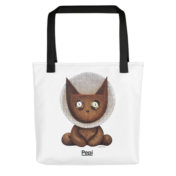 Apollo Lucky Louie . Weather-Resistant Tote Bag . White