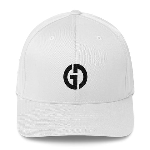 Logo . Structured Baseball Cap . White