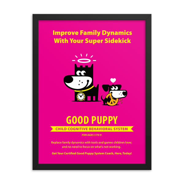 Good Puppy System Practice Promo Poster III . Framed 18x24