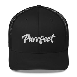 Purrfect . White . Trucker Cap