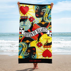 STACK THE DECK . Queen Of Hearts . Towel