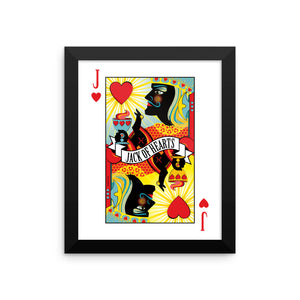 Stack The Deck . Jack Of Hearts . Framed Matte Print