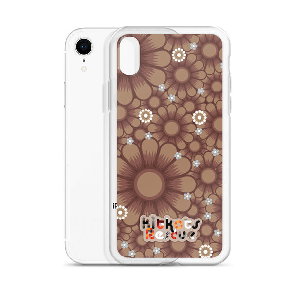 KitKats Rescue . Taupe Flower Bed . iPhone Case