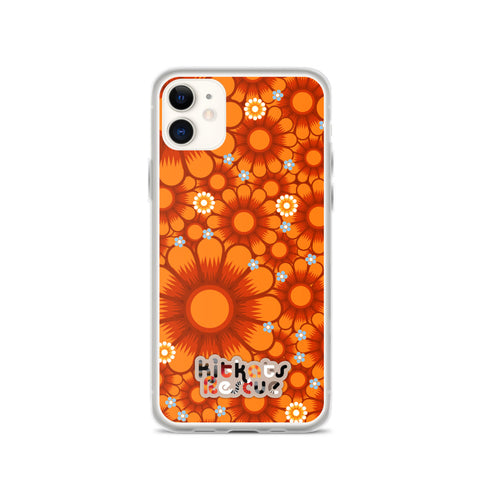 KitKats Rescue . Orange Flower Bed . iPhone Case