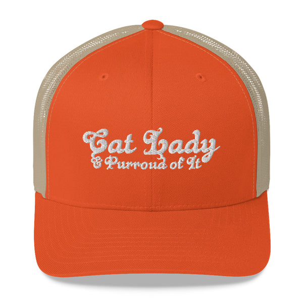 Cat Lady . White . Trucker Cap