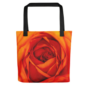 Light Vessels . Orange Rose . Weather-Resistant Tote Bag