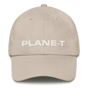 Unisex Gifts . PLANE-T . Baseball Cap . Unstructured . Stone