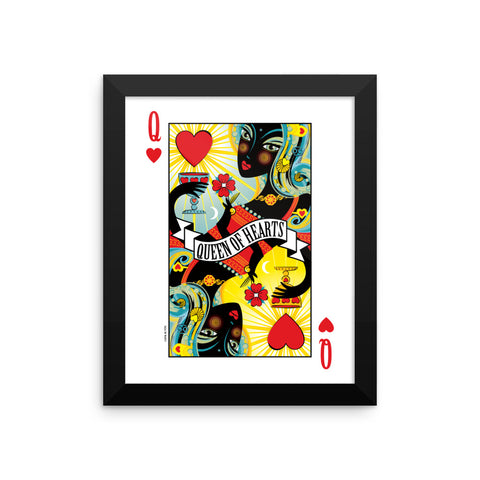 GEORGE'S DRAGON . Stack The Deck . Queen Of Hearts . Framed Matte Print