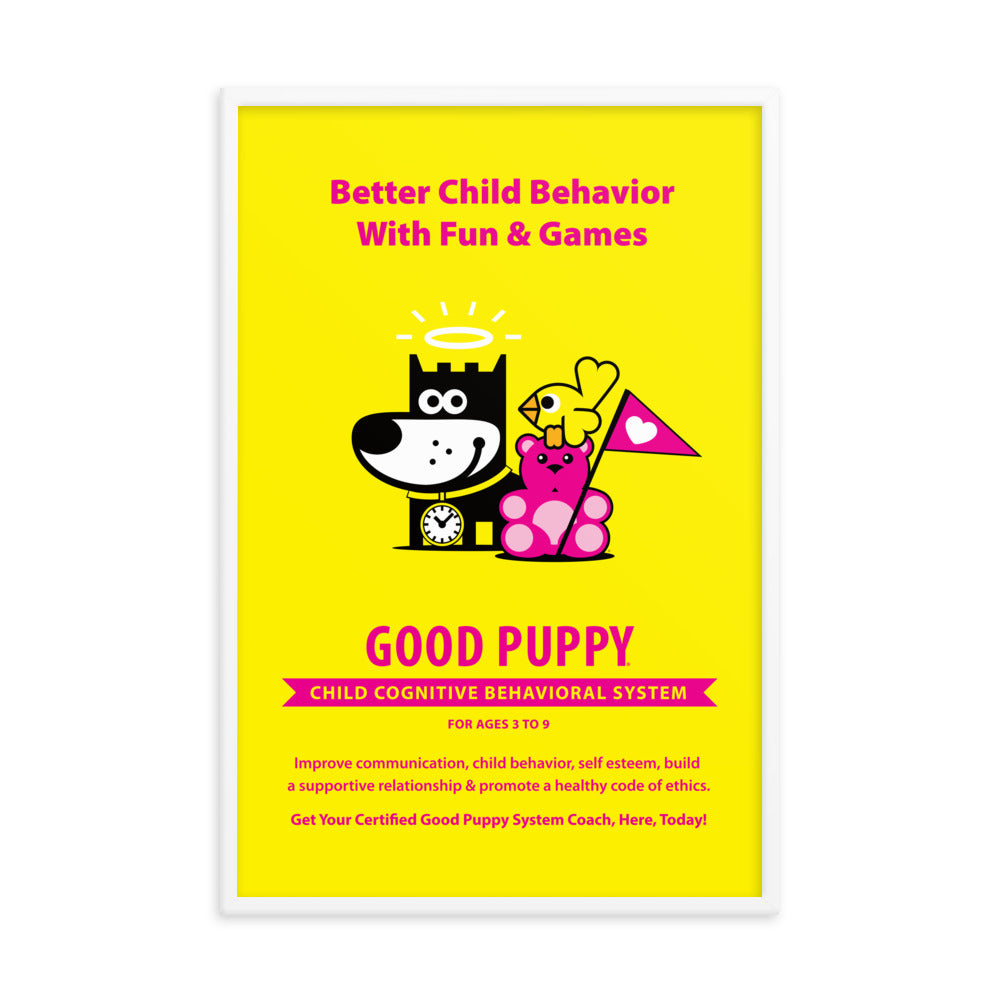 Good Puppy System Practice Promo Poster I . Framed 24x36