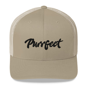 Purrfect . Black . Trucker Cap