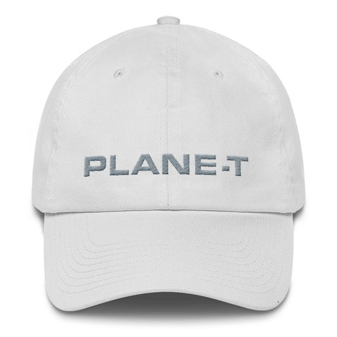 Unisex Gifts . PLANE-T . Baseball Cap . Unstructured . White