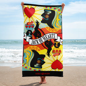 Jack Of Hearts . Towel