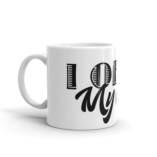 I Obey My Cat . Black . Mug