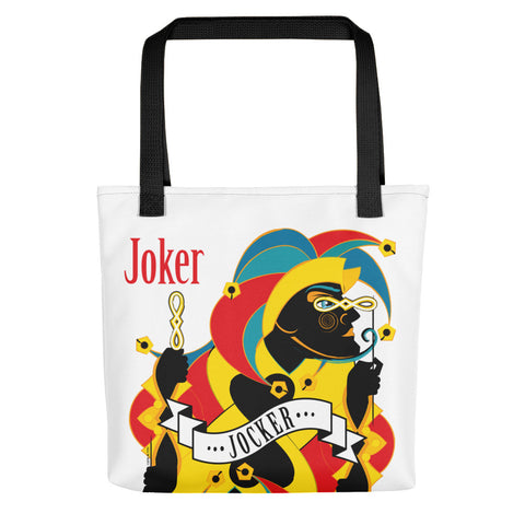 STACK THE DECK . Joker . Weather-Resistant Tote Bag